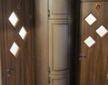 с угловым шкафом, двери радиусные, фасады фолия, МДФ